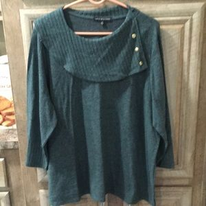 New With Tags Dark Green Color Sweater Top—Size 2X